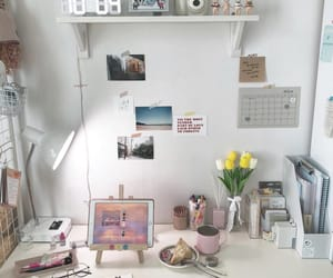 aesthetic, cool, and desk image