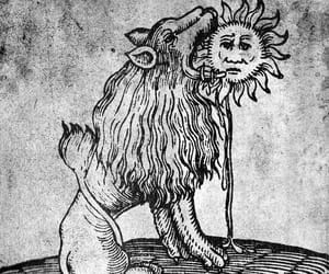 16th century, alchemy, and lion image