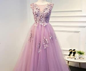 long prom dresses, lace evening dress, and a-line evening dress image