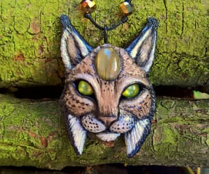 etsy, necklace, and wild cat image
