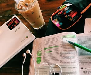 study, coffee, and school image