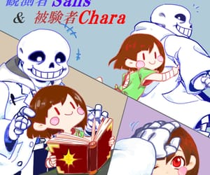 sans, undertale, and chara image