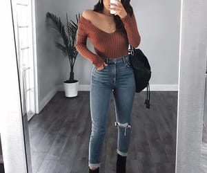 fashion, handbag, and jeans image