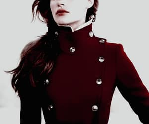 girl, maroon, and red image