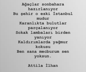 attila ilhan, alıntı, and türkçe sözler image