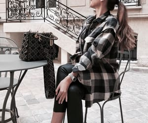 girl, outfit, and bag image