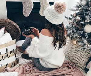 winter, christmas, and girl image