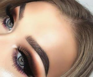 makeup, smokey eye, and slay image