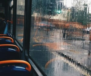 rain, bus, and aesthetic image