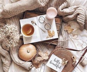 book, glasses, and pumpkin image
