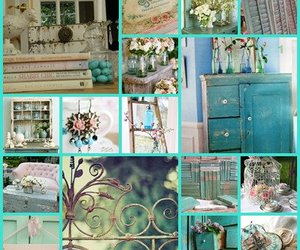 shabby chic and green blue image