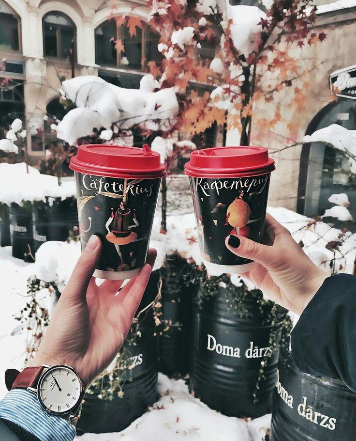 жизнь фото кофе в стакане на улице зимой надежно