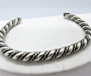etsy, vintage bracelet, and braided cuff image