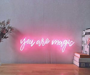 neon, lights, and pink image