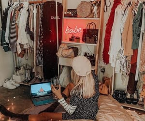 girl, closet, and inspiration image