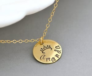 etsy, namenecklace, and initial disc image