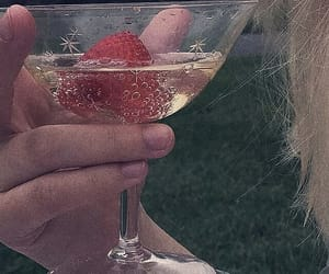 aesthetic, drink, and strawberry image