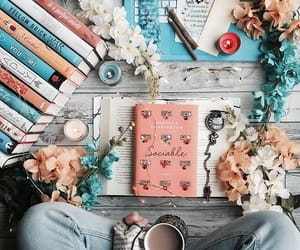book, cute, and love image