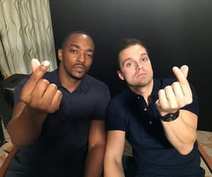 falcon, sebastian stan, and anthony mackie image