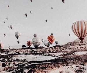 balloons, sky, and happiness image