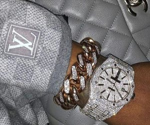 diamond, luxury, and watch image