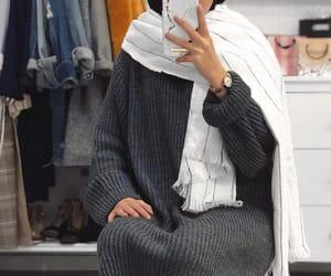 girl, hijab, and home image