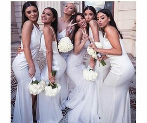 fashion, wedding, and friends image