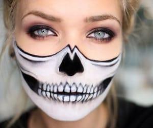 blue eyes, calavera, and Halloween image