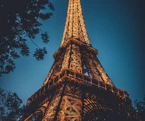 night, paris, and travel image