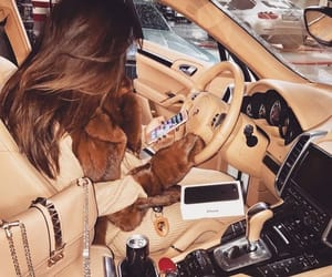 car, luxury, and woman image