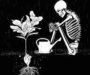 alternative, black & white, and dark image