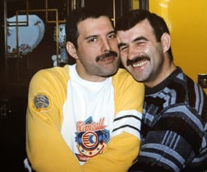Freddie Mercury, Queen, and jim hutton image