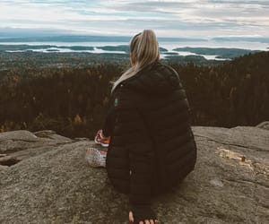 blondie, girl, and mountain image