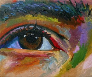 art, colors, and eye image