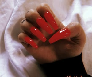claws, red nails, and nail goals image