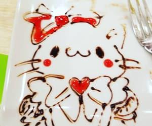 cat, kawaii, and food art image