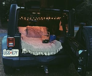 cozy, jeep, and lights image