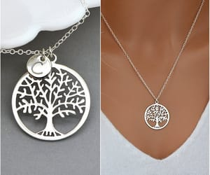 sterling silver, tree of life pendant, and family necklace image