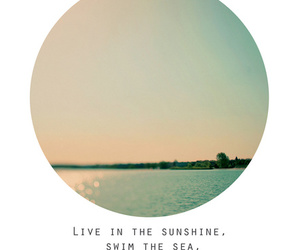 quote, sea, and sunshine image