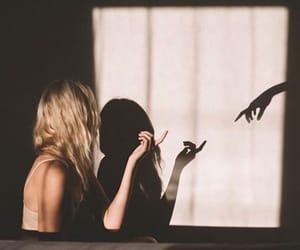 girl, shadow, and photography image