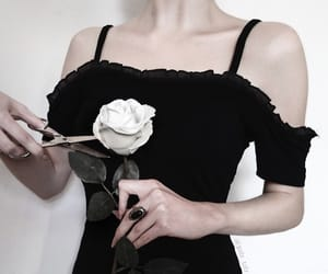 beuty, black dress, and cool image