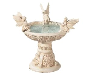 aesthetic, bird bath, and fairytale image