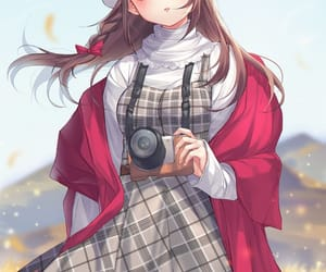 anime, camera, and girl image