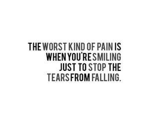 pain, quotes, and tears image