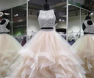 champagne prom dress, prom dress ball gown, and prom dress for cheap image