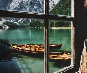 mountains, travel, and boats image