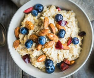 breakfast, almond, and berries image