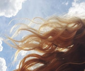 hair, sky, and blonde image