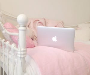 pink, apple, and macbook image