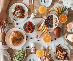 breakfast, food, and fashion image